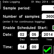 PyroMini Data Logging Screen