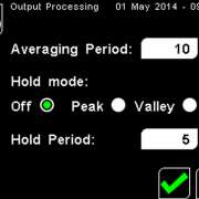 PyroMini Output Processing Settings Screen