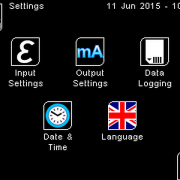 PyroMini Settings Screen