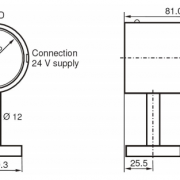 Dimensions of FTK calibration source