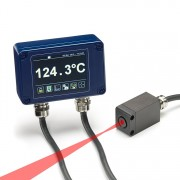 PyroCube infrared temperature sensor with fast response time and built-in aiming light