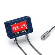 PyroMini pyrometer with miniature sensing head and touch screen