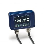 PM030 touch screen display, configuration and data logging unit with alarm relay outputs, compatible with all PyroCube series infrared temperature sensors